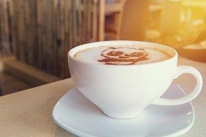 latte art coffee or cappuccino