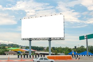 Billboard or empty poster advertise