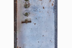 Old Wheled Safe box isolate