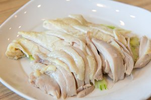 hainanese boiled chicken