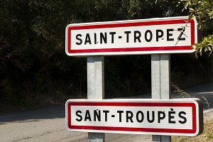 St. Tropez road sign