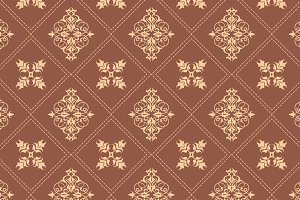 Seamless Wallpaper Brown Damask