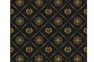 Seamless Wallpaper Dark Damask