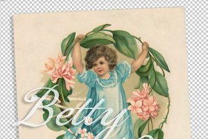vtg greetings, flower doll 2
