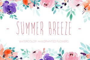 Summer Breeze - Watercolor flowers