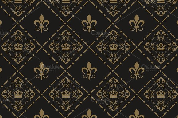 Black Royal Wallpaper Patterns Creative Market