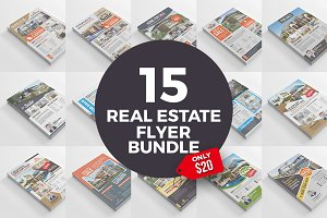 15 Real Estate Flyers Bundle