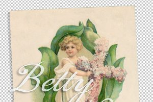 vtg greetings, flower doll 3