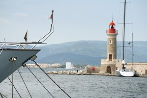 Port light in Saint Tropez