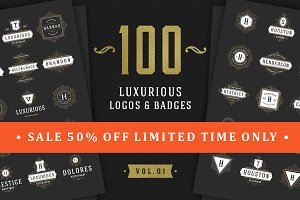 100 Luxurious logos & badges