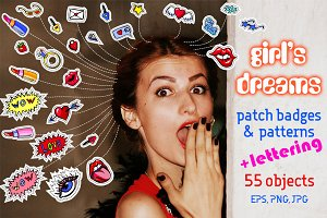 Girls fashion patches & patterns