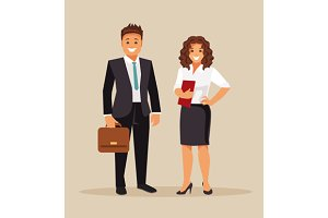 Business men and women