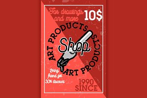 art products shop banner