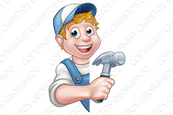Builder Or Carpenter Handyman Construction Worker