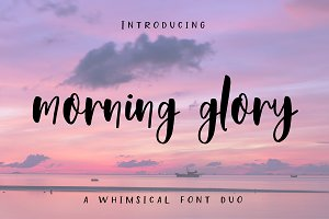Morning Glory Font Duo