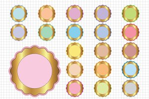 Scalloped Circle Frame