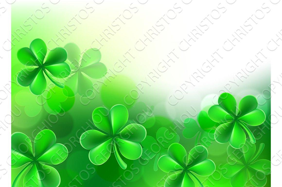 St Patrick Background Images: St Patricks Day Shamrock Clover Background