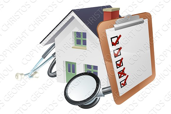 House Stethoscope Clip Board Concept