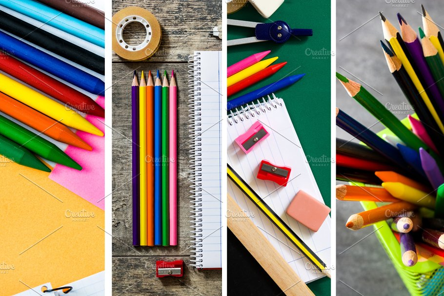 Back To School Collage Education Photos Creative Market