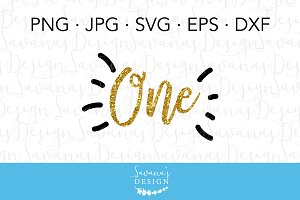 First Birthday SVG Cricut Cut File