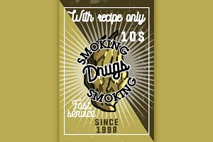 Color vintage drugs banner