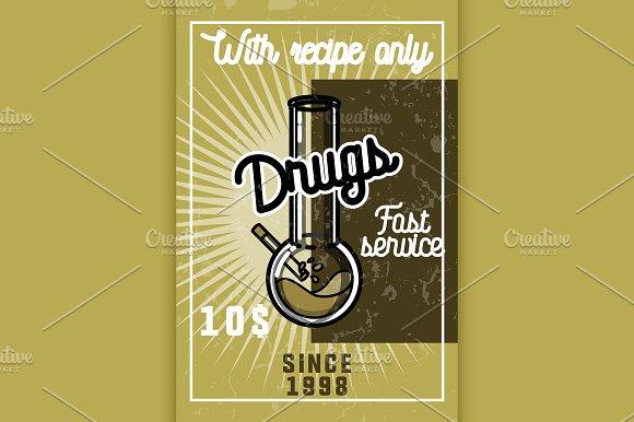 Color Vintage Drugs Banner