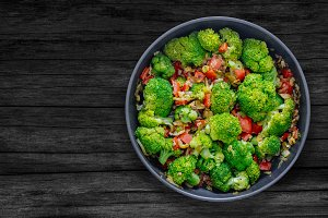 Sauteed vegetables and Broccoli