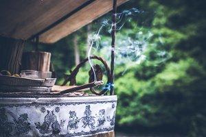 Incense stick. Aromatherapy. Balinese. Rainforest.