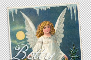 christmas greetings, angel