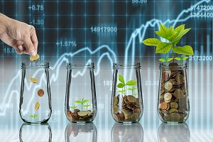Business investment growth concept