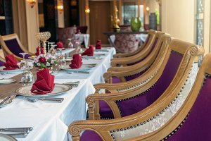 Luxury restaurant set