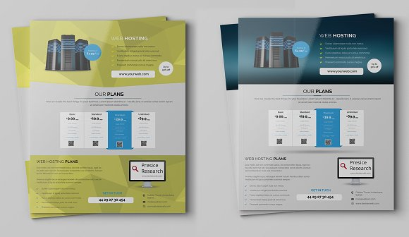 web hosting flyers template flyer templates creative market