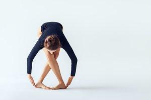 dancer posing on a studio