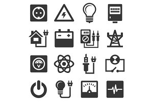 Energy Electricity Icons Set