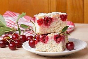 Cherry sponge slice