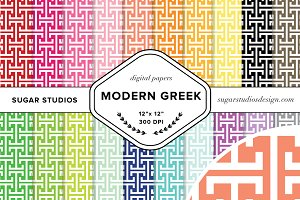 Modern Greek Digital Backgrounds
