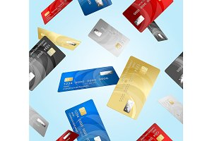 Credit Plastic Card Pattern