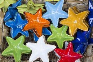 sea stars made of pottery