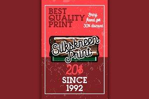 silkskreen print banner
