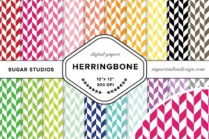 Herringbone Digital Backgrounds