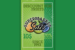 supermarket sale banner