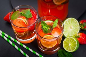Strawberry Lemonade Summer Drink