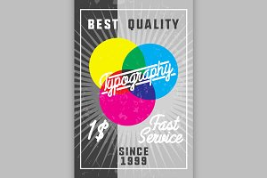 Color vintage typography banner
