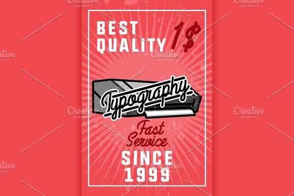 Color Vintage Typography Banner