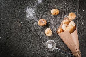 Cronuts popcorn, puff donuts holes