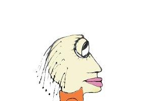 Bored Rastafari Hair Woman Character Drawing