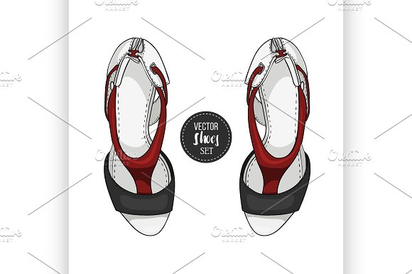 Fashionvector Color Womens Shoes