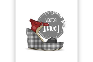 Fashionvector color womens shoes.