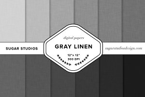 Gray Linen Digital Background Set