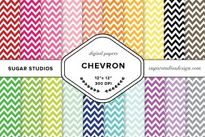 Chevron Digital Backgrounds Set
